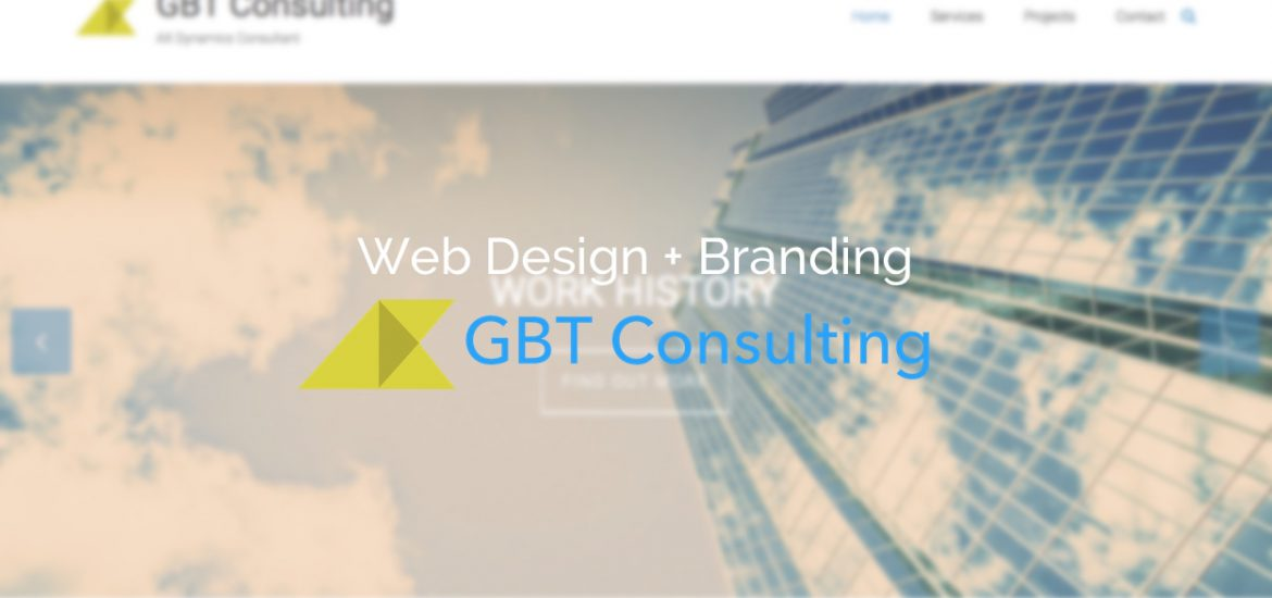 Web design branding gbt consulting jack cursham for Consulting website